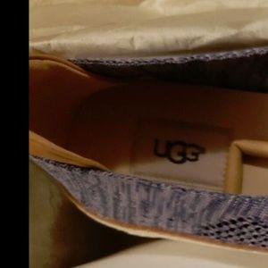 Ugg Sammy Slip On Knit Hyper Weave Sneakers Blue 9